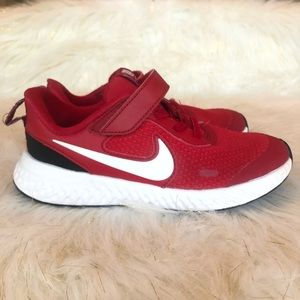 Nike Revolution Sz 13 youth running shoes Red